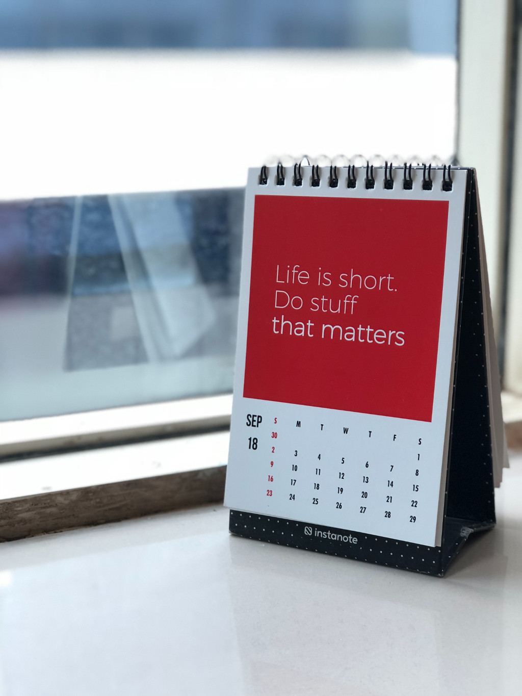 Spruch: Life is short. Do stuff that matters.