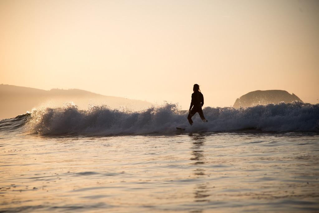 Surfen bei ruhigem Wind