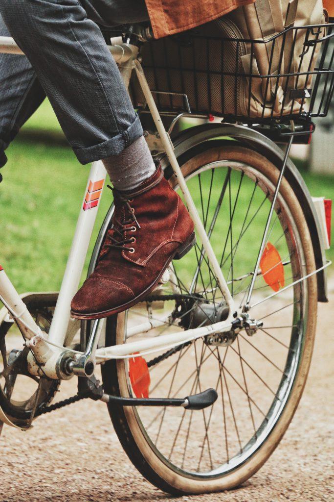 Hinterrad vom Fahrrad