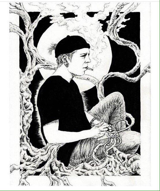 Illustration schwarz weiß