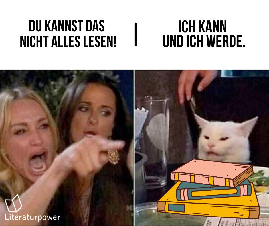 """Katzen-Meme """"Ich werde das alles lesen!"""""""